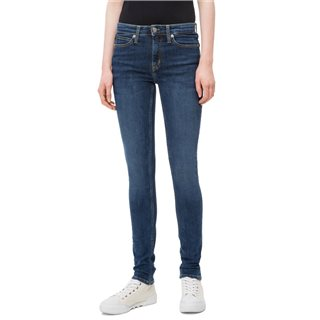 Calvin Klein Amsterdam Blue Mid 011 Mid Rise Skinny Jeans