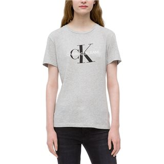 Calvin Klein Light Grey Heather Logo T-Shirt
