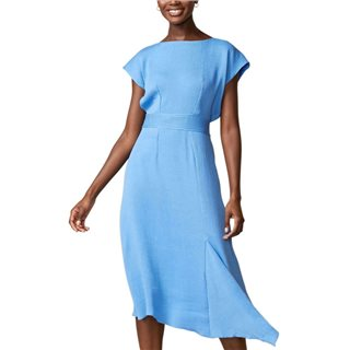 Closet London Blue Asymmetric A-Line Dress