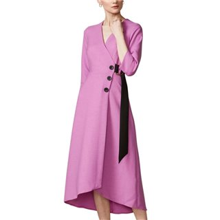 Closet London Lilac Wrap A-Line Dress