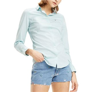 Tommy Jeans Canal Blue Stretch Slim Fit Shirt