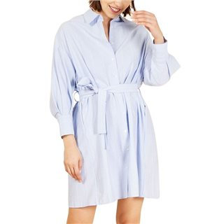 FRNCH Paris Light Blue Alberta Dress