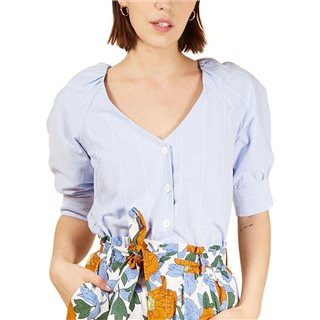 FRNCH Paris Light Blue Christine Top