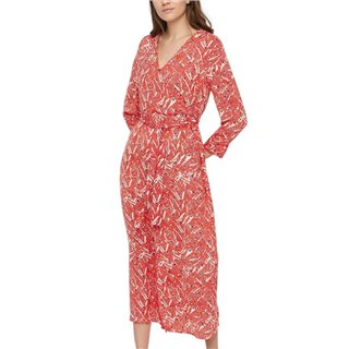 Vero Moda Fiery Red Long Printed Dress