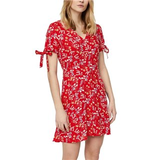 Vero Moda Fiery Red Short Sleeved Short Dress