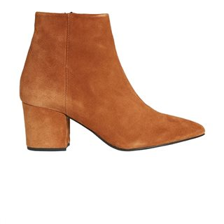 Vero Moda Shoes Cognac Ankle Leather Boots