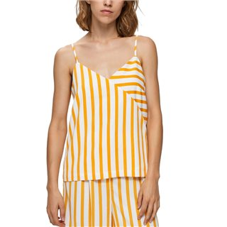 Selected Femme Radiant Yellow Striped Strap Top