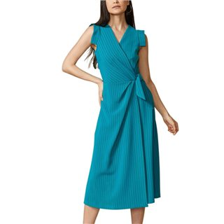 Closet London Jade Wrap Midi Dress With Tie
