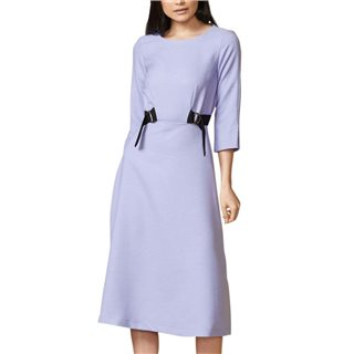 Closet London Pale Lavender Double Tie Detail Midi Dress