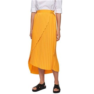 Selected Femme Radiant Yellow Pleated Midi Skirt
