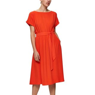 Selected Femme Cherry Tomato Knot Midi Dress