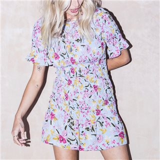 Never Fully Dressed Purple Sophie Floral Dress