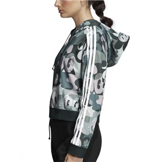 adidas Originals Multicolour Cropped Hoodie