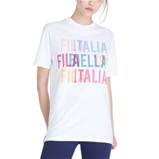Fila White Dolores Logo Relaxed Fit T-Shirt
