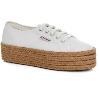 Superga White 2790 Cotrope Trainer