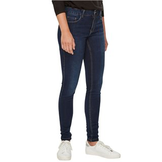 Vero Moda Dark Blue Seven Regular Waist Shape Up Slim Fit Jeans