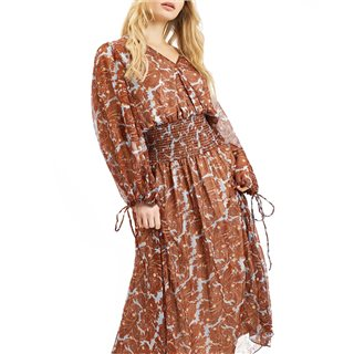 Traffic People Blue Boho Maxi Dress