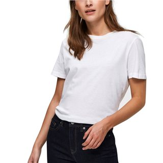 Selected Femme White Perfect Pima Cotton T-Shirt
