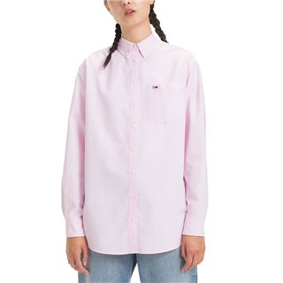Tommy Jeans Pink Classic Oxford Shirt