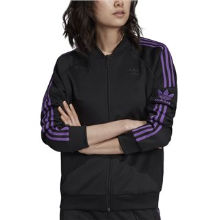 adidas Originals Black/Purple Sst Track Jacket
