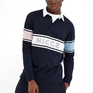 Nicce Navy Rugby Shirt