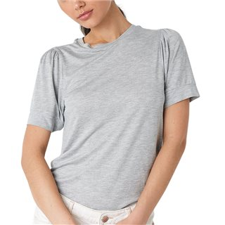 NA-KD Grey Puff Sleeve T-Shirt