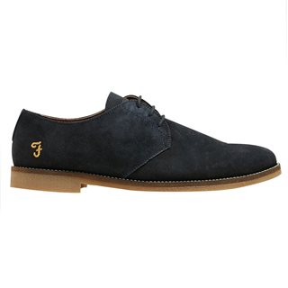 Farah Accessories Navy Stokes Suede Desert Shoe