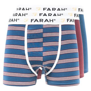 Farah Accessories Blue/Red Byrne 3-Pack Boxers