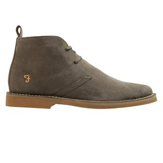 Farah Accessories Grey Lozza Suede Desert Boot