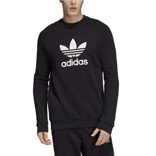 adidas Originals Black Trefoil Warm-Up Crew Sweatshirt