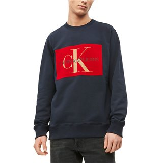 Calvin Klein Night Sky Flock Logo Sweatshirt