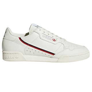 adidas Originals Off White/Scarlet Continental 80 Trainer