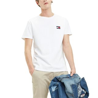 Tommy Jeans Classic White Badge Cotton T-Shirt