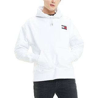 Tommy Jeans Classic White Pure Cotton Badge Hoody