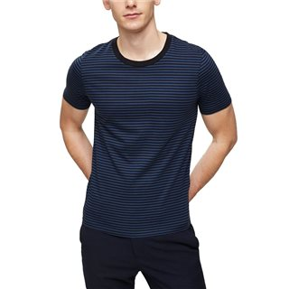Selected Homme Insignia Blue Crew Neck Striped T-Shirt