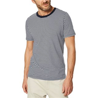 Selected Homme Brilliant White Crew Neck Striped T-Shirt