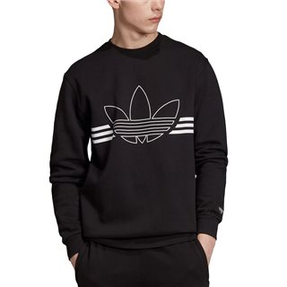 adidas Originals Black Outline Trefoil Fleece Sweater