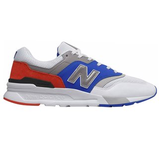 New Balance White/Blue 997h Trainer