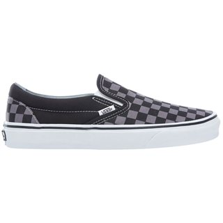 Vans Footwear Black Pewter Checkerboard Classic Slip-On Shoes