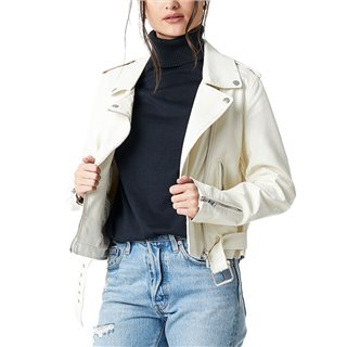 NA-KD White Pu Leather Biker Jacket