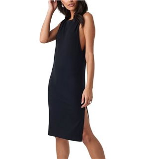 NA-KD Black Deep V Back Relaxed Dress