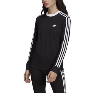adidas Originals Black 3-Stripes Long-Sleeve Top