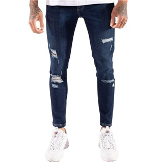 11 Degrees Indigo Wash Distressed Skinny Jeans