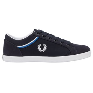 Fred Perry Navy Canvas Shoes