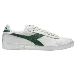 Diadora White/Fogliage Game L Low Waxed Sports Shoes