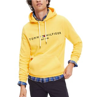 Tommy Hilfiger Spectra Yellow Organic Cotton Blend Logo Hoody