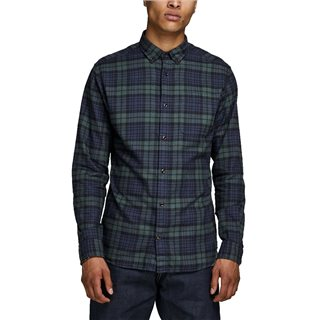 Jack & Jones Essentials Olive Night Checked Shirt