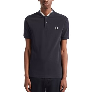 Fred Perry Navy Bomber Collar Polo Shirt