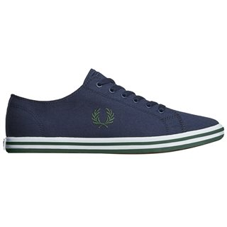 Fred Perry Carbon Blue Kingston Twill Shoes