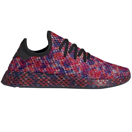 adidas Originals Core Black/Solar Red Deerupt Trainers  - Click to view a larger image